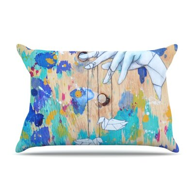 Origami Strings by Kira Crees Featherweight Pillow Sham Size: King, Fabric: Woven Polyester