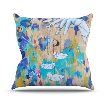 Origami Strings Throw Pillow Size: 16 H x 16 W