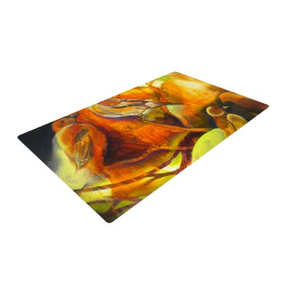 Kristin Humphrey Reflecting Light Yellow Area Rug Rug Size: 2 x 3
