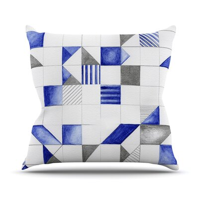 Winter Geometry Outdoor Throw Pillow Size: 16 H x 16 W x 3 D