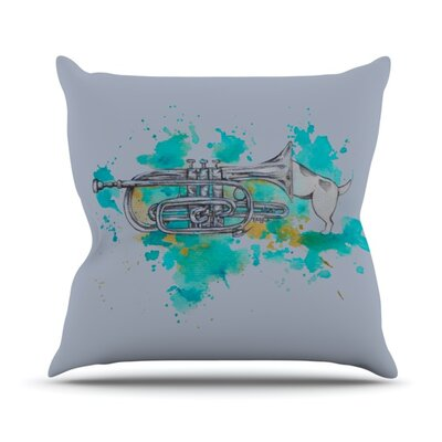 Hunting for Jazz Throw Pillow Size: 16 H x 16 W