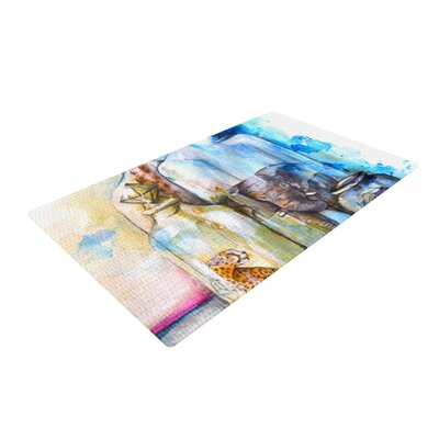 Kira Crees Bottled Animals Blue/Pink Area Rug Rug Size: 2 x 3