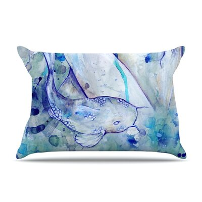 Koi Playing by Kira Crees Featherweight Pillow Sham Size: Queen, Fabric: Woven Polyester