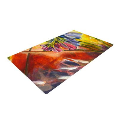 Kristin Humphrey Progression Yellow/Orange Area Rug Rug Size: 2 x 3