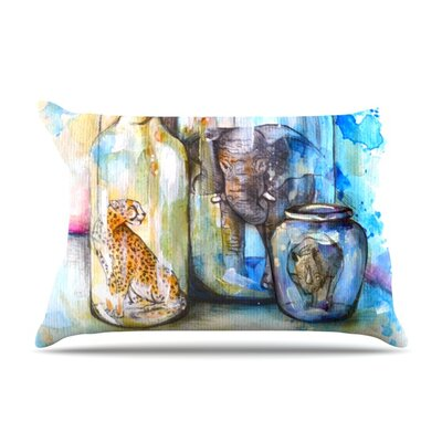 Bottled Animals by Kira Crees Featherweight Pillow Sham Size: King, Fabric: Woven Polyester