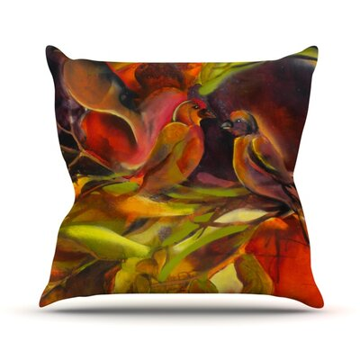 Mirrored in Nature Outdoor Throw Pillow Size: 16 H x 16 W x 3 D