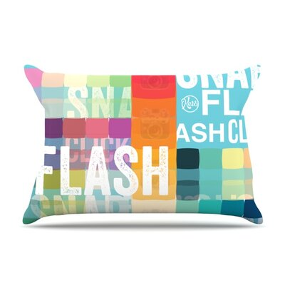 FLASH Featherweight Pillow Sham Size: King, Fabric: Woven Polyester