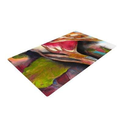 Kristin Humphrey Glimpse Green/Pink Area Rug Rug Size: 2 x 3