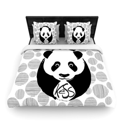 Panda Woven Comforter Duvet Cover Size: Full/Queen