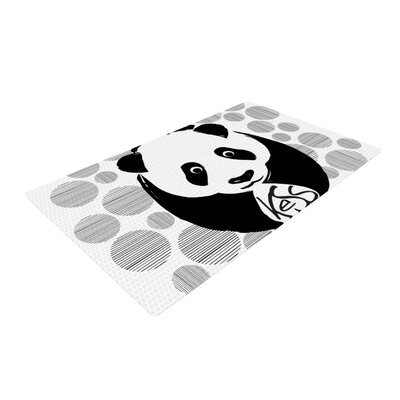 Panda Novelty Black/White Outdoor Area Rug Rug Size: 4 x 6