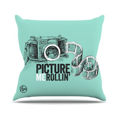 Picture Me Rollin Throw Pillow Size: 26 H x 26 W