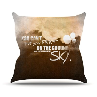Touch The Sky Throw Pillow Size: 18 H x 18 W