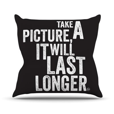 Take a Picture Throw Pillow Size: 20 H x 20 W