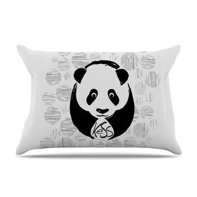 KESS Original Panda Featherweight Sham Size: Queen, Fabric: Woven Polyester