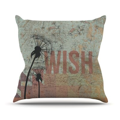 Wish Throw Pillow Size: 26 H x 26 W