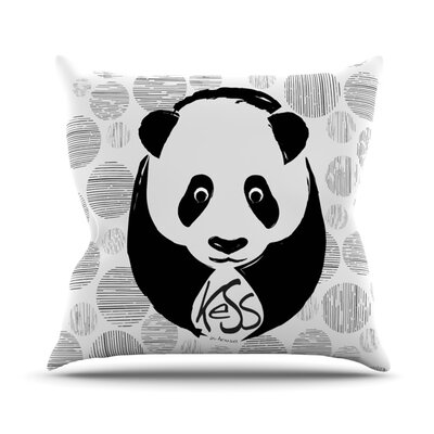 Panda Throw Pillow Size: 16