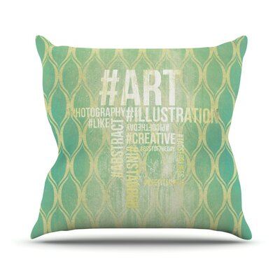 Hashtag Outdoor Throw Pillow Size: 18 H x 18 W x 3 D