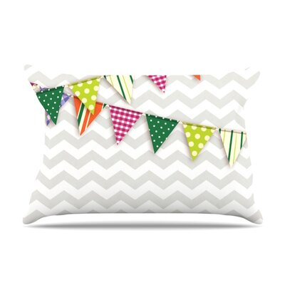 Flags 1 Featherweight Pillow Sham Size: King, Fabric: Woven Polyester