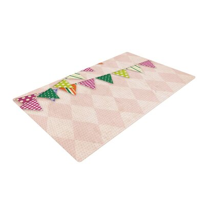 Flags 2 Pink/White Area Rug