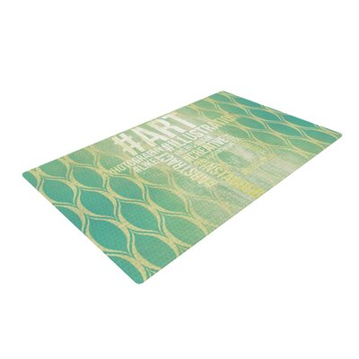 Hashtag Green/Yellow Area Rug Rug Size: 2 x 3