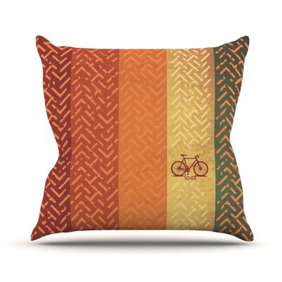 Lost Outdoor Throw Pillow Size: 16 H x 16 W x 3 D