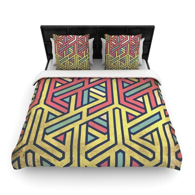 Deco Woven Comforter Duvet Cover Size: Full/Queen