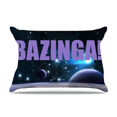 Bazinga Purple Space Pillow Case Color: Purple