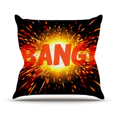 Bang Throw Pillow Size: 20 H x 20 W x 4 D