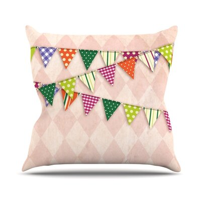 Bicycle Throw Pillow Size: 26 H x 26 W