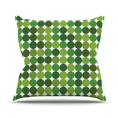 Noblefur Throw Pillow Size: 20 H x 20 W x 4 D, Color: Green
