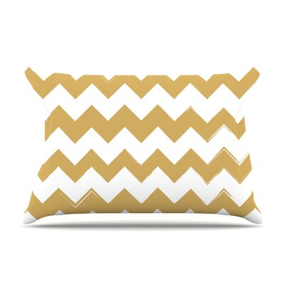 Candy Cane Featherweight Pillow Sham Size: King, Color: Gold, Fabric: Woven Polyester