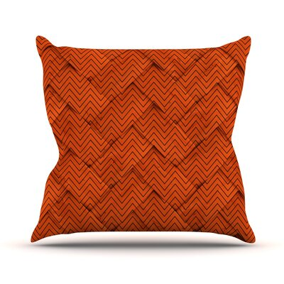 Chevron Weave Throw Pillow Size: 16 H x 16 W x 3 D