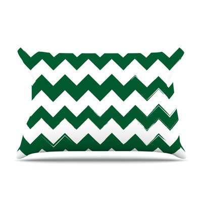 Candy Cane Featherweight Pillow Sham Size: Queen, Color: Green, Fabric: Woven Polyester