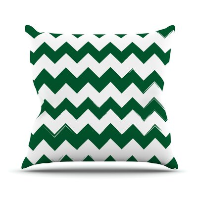 Candy Cane Chevron Throw Pillow Size: 16 H x 16 W x 3 D, Color: Green