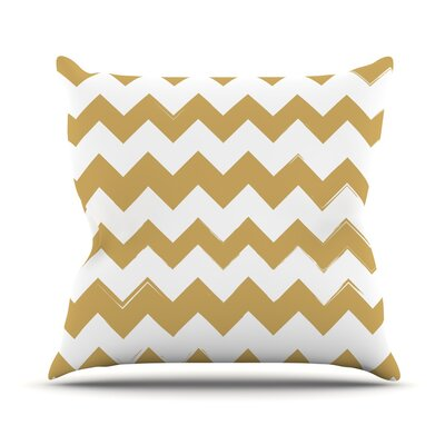 Candy Cane Chevron Throw Pillow Size: 18 H x 18 W x 3 D, Color: Gold