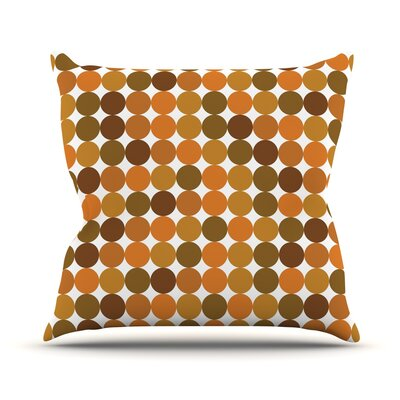 Noblefur Throw Pillow Size: 20 H x 20 W x 4 D, Color: Orange