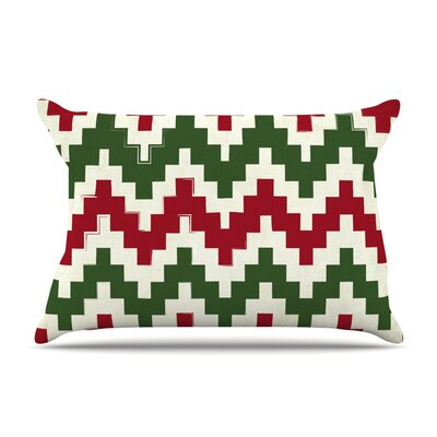 Christmas Gram Featherweight Pillow Sham Size: Queen, Fabric: Woven Polyester