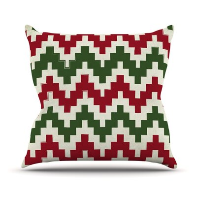 Christmas Gram Chevron Throw Pillow Size: 26 H x 26 W x 5 D