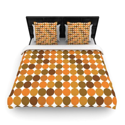 Noblefur Orange Harvest Woven Comforter Duvet Cover Size: Full/Queen