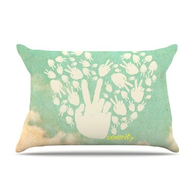 Serenity Featherweight Pillow Sham Size: King, Fabric: Woven Polyester
