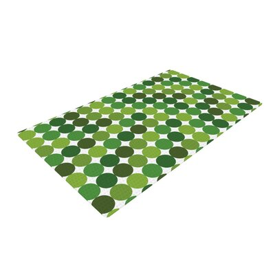 Noble Fir Dots Green Area Rug