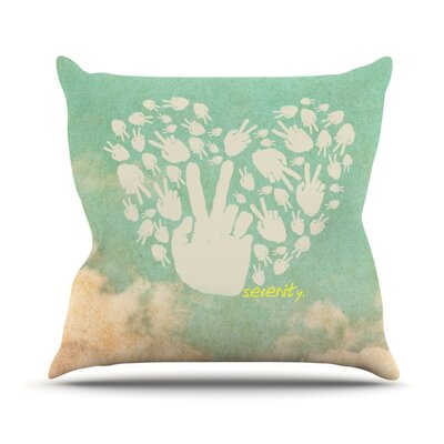 Serenity Throw Pillow Size: 18 H x 18 W