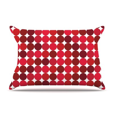 Noblefur Featherweight Pillow Sham Color: Red, Size: King, Fabric: Woven Polyester