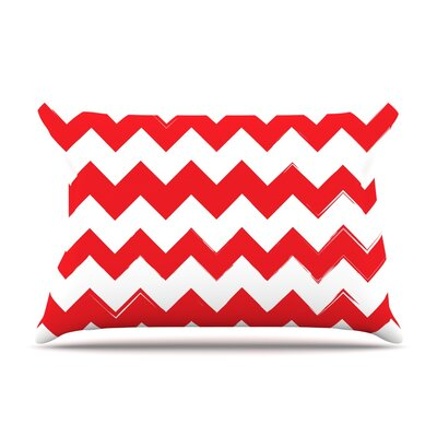 Candy Cane Featherweight Pillow Sham Size: King, Color: Red, Fabric: Woven Polyester
