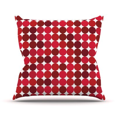 Noblefur Throw Pillow Size: 26 H x 26 W x 5 D, Color: Red