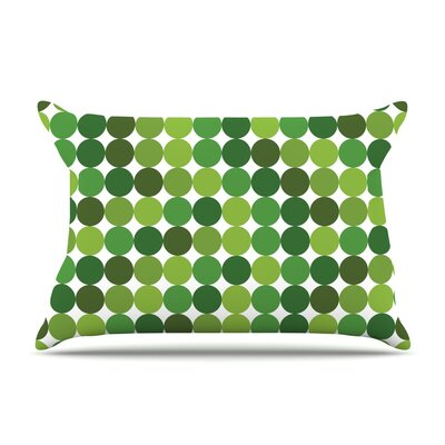 Noblefur Dots Pillow Case Color: Green