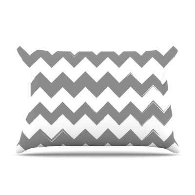 Candy Cane Featherweight Pillow Sham Size: Queen, Color: Gray, Fabric: Woven Polyester