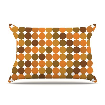 Noblefur Dots Pillow Case Color: Orange
