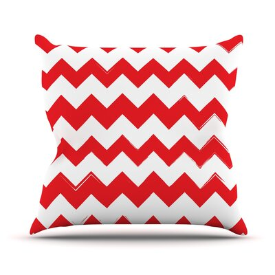 Candy Cane Chevron Throw Pillow Size: 26 H x 26 W x 5 D, Color: Red