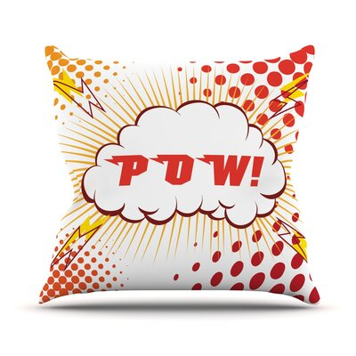 POW! Cartoon Throw Pillow Size: 18 H x 18 W x 3 D